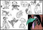 Pokemon Sketchdump by Ahkward