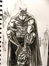 Batman ink sketch by spencertoons