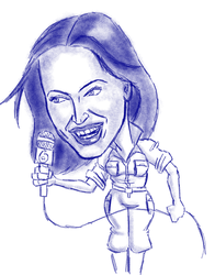 Megan Fox Caricature by BJCHESTER