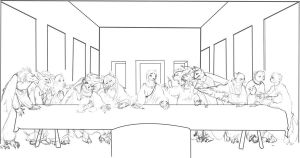 Furry Last Supper Sketch by ALRadeck