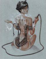 CatWoman Honeymoon in Copic by me eBas by ebas