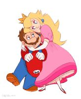 Mario and Peach by DrZime