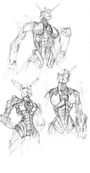 Abstract sketches of Gali by AzonBobcat
