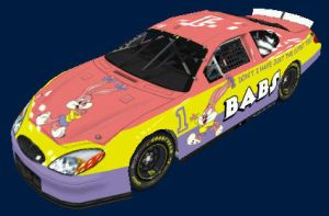 Babs Bunny Nascar front by Framwinkle