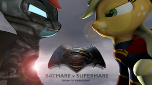 Batmare vs Supermare by M00N-CHASER