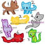 Kitty Adoptables by iiLetsRockx2