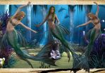 Blond Mermaid Pack 02 by Just-A-Little-Knotty