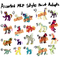 Assorted MLP style point adopts 9 left! by Jopale-Opal