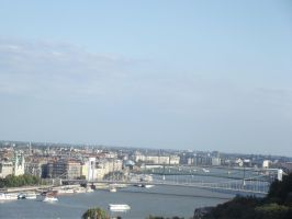 Budapest: View of the Danube by jadedlioness