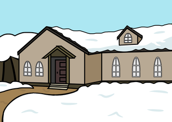 Marisa's house in winter by kossza
