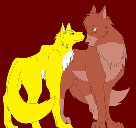The Wolf and The Werefox by KyuubiVictoria