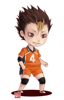 [GIF] Haikyuu!! - guardian deity chibi by zero0810