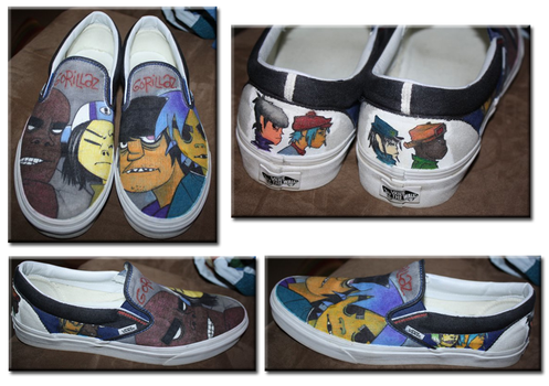 Shoe Design 06- Gorillaz by LimeGeen