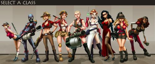 TF2: Select A Class... by ghostfire