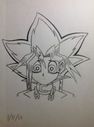 Yugi Muto sketch - 1/11/15 by Jestloo