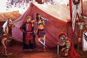 Xena the Conquerer - Siri and Sevastian by aaronwty