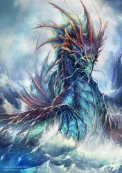 Ancient sea Dragon for Neridian by Chaos-Draco