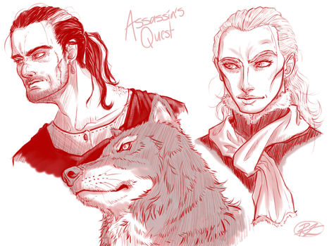 Assassin's Quest Characters by RZ-Seven