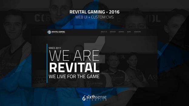 REVITAL-GAMING 2016 - UI / UX and CMS by sixthsense-creative