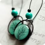 tree crown earrings by BeautySpotCrafts
