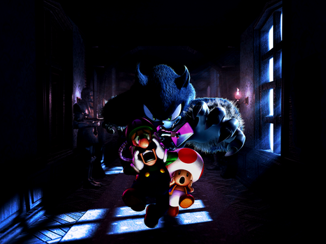 Luigi's Mansion: A Werehog in the Gloomy Manor by Legend-tony980