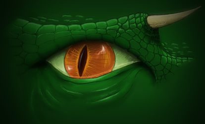The Green Creature's Eye by whirlpool