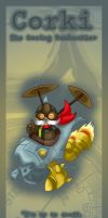 Corki bookmark design by Hotaru-oz
