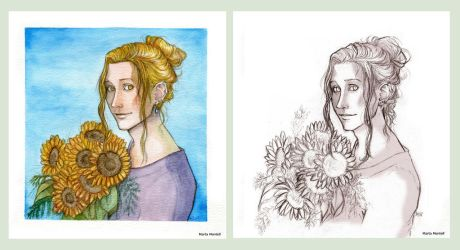 The Fool_65_ Sunflowers by MartAiConan