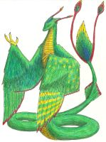 Were-feathered Serpent by drakina