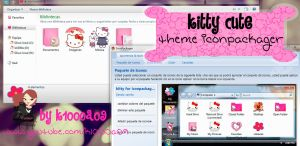 kitty cute theme iconpackager by k1000a09 by k1000adesign
