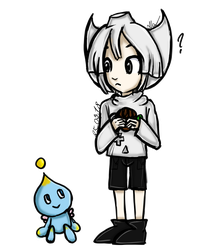 [HUM.] Dreamcast and Chao by MariaNya54