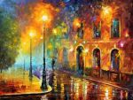 Misty City by Leonid Afremov by Leonidafremov