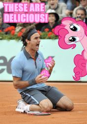 Federer and Pinkiepie by Trotsworth