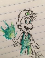 Fire Luigi by PokeMarioGamer16
