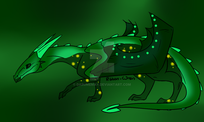 Nocturnal Forest Glass Dragon adopt by Darumemay