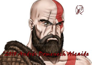 Kratos Quick Portrait 01 by Vladsnake