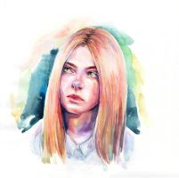 elle fanning by Artilin