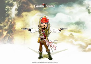 Captain Jack in potc4 poster by amoykid