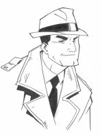 Dick Tracy ink by KidNotorious