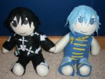 Lexicon and Sitar Plushies by ShiroiKiba88