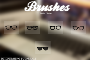 Brushes Lentes Hipster by DreamingTutorials
