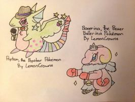 Some of LemonCrown's Fakemon... by pheonix548