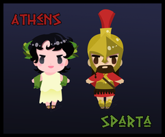 Athens and Sparta: APH style by Hapo57