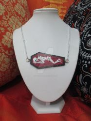 I'm Only Sleeping Hand Painted Coffin Pendant by TanzenLilly