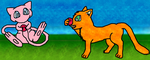 Mew and Firestar comic relief by 1Meh1