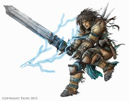 Pathfinder: Barbarian by BadInspiration