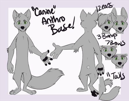 Zootopia-Styled Canine Anthro Base [FOR SALE] by Machati