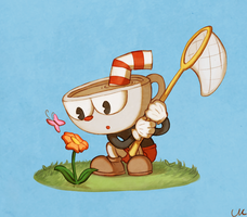Cuphead finds a familiar flower by ck-distantsky