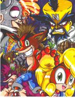 crash bandicoot and gang by trunks24