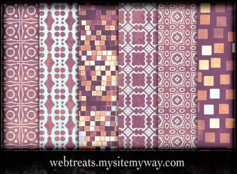 Lavender Peach Patterns Part 2 by WebTreatsETC